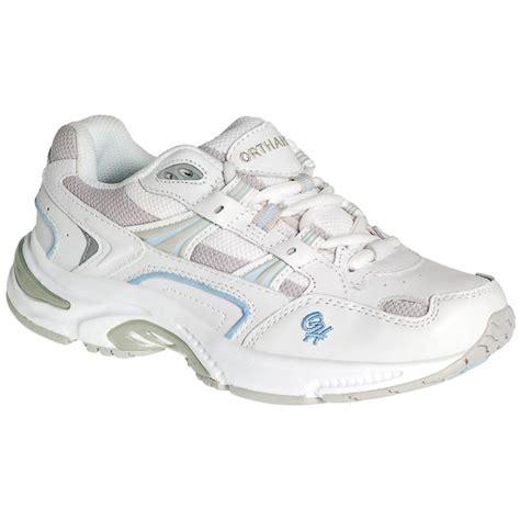 x trainer white blue side orthopedic shoe