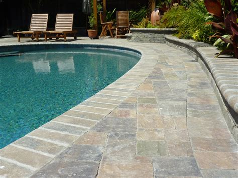 pool deck stone calstone stone paving driveway pavers retaining wall