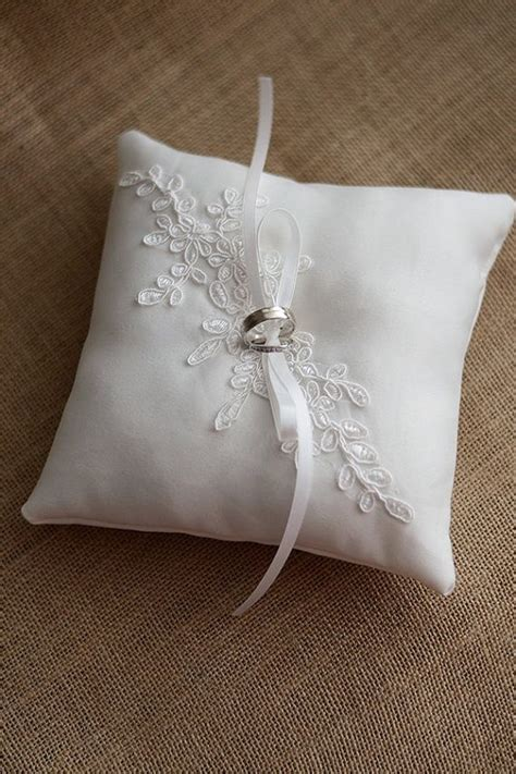 Wedding Rings Pillow by Comford Wedding Ring Pillow Ivory