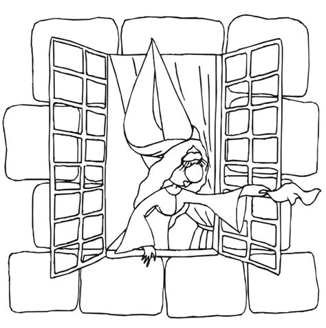 coloring page for window princess castle coloring page coloring home