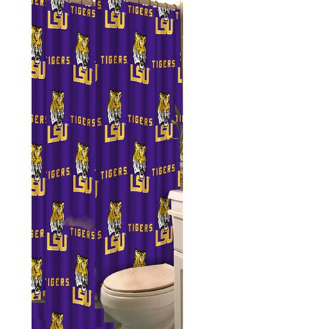 lsu shower curtain lsu tigers purple all over print polyester fabric shower