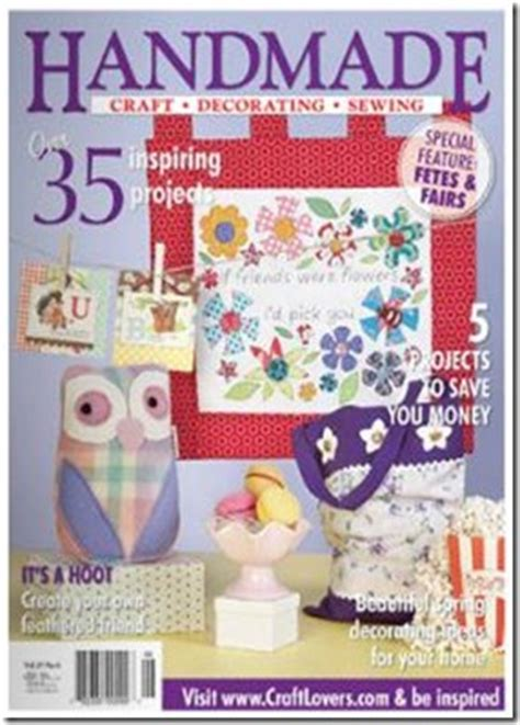 Handmade Home Magazine - as seen in my poppet makes