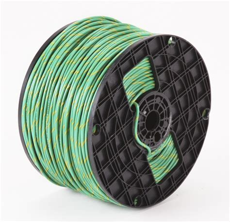 alan wire 10awg thhn green with yellow stripe 2500ft