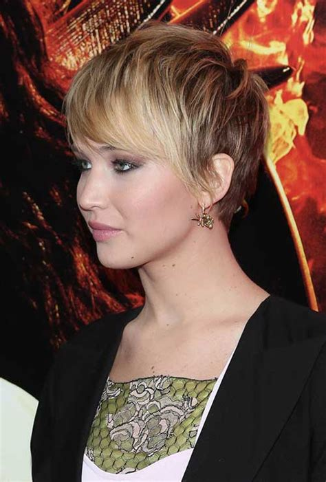 Jennifer Lawrence with Short Hair   Short Hairstyles