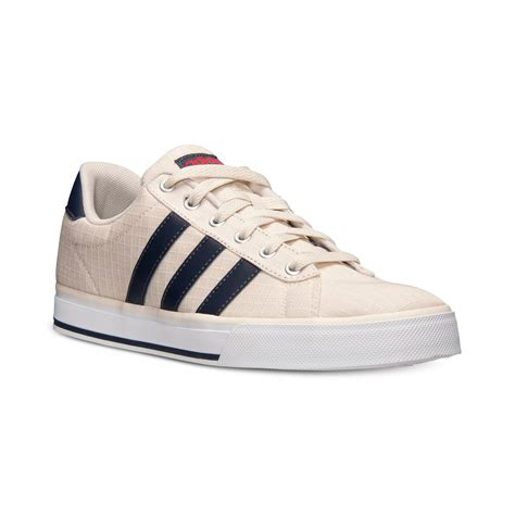 adidas s se daily vulc casual sneakers from finish line in beige for bone navy lyst