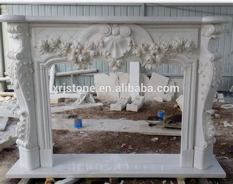 snow white marble craft stove fireplace insert