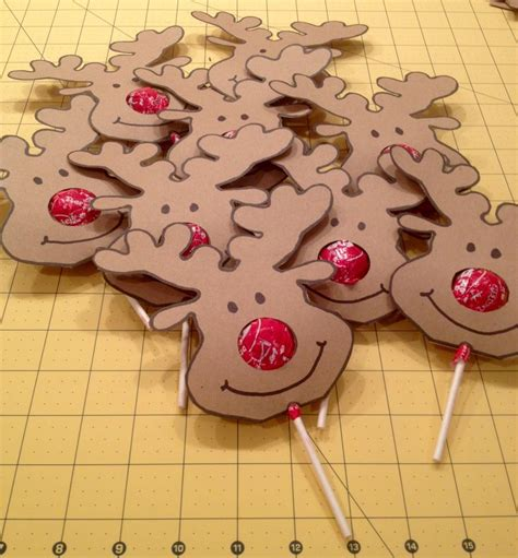 photoshop card templates place faces into reindeer best 25 lollipop craft ideas on circle punch
