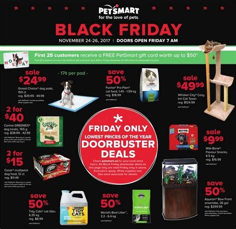 Gift Card Black Friday 2017 - petsmart canada black friday 2017 deals first 25 customers get a gift card worth up