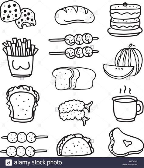 doodle food ltd doodle lebensmittel set zeichnen vektorgrafiken