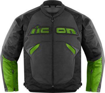 icon sanctuary yesil siyah deri motosiklet montu  large
