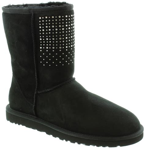 bling boots ugg classic bling boots in black
