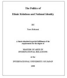 Title Proposal For Thesis International University Of Japan Thesis Writing Guideline