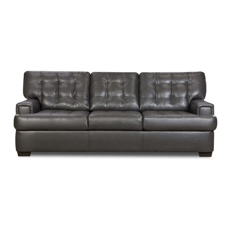 Simmons Gray Soho Leather Sofa Simmons Leather Sofa And Loveseat