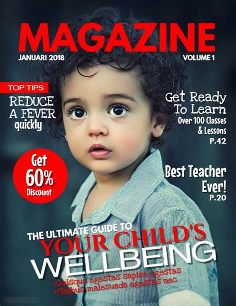design magazine cover template kids magazine cover template postermywall