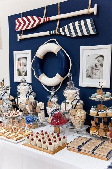 nautical theme decor french nautical styled by coco party ideas baby