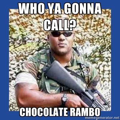 Dorner Meme - christopher dorner inspires quot chocolate rambo quot meme