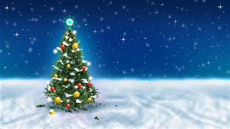 wallpapers hd christmas tree snow sky