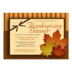 thanksgiving dinner 5x7 paper invitation card zazzle