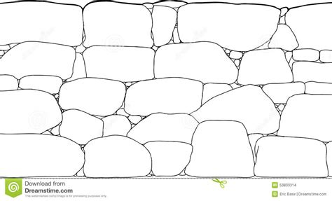 rock pattern drawing rock wall outline stock illustration image of cartoon