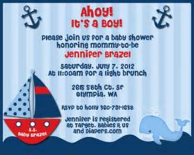ahoy its a boy nautical theme baby shower invitations for jen
