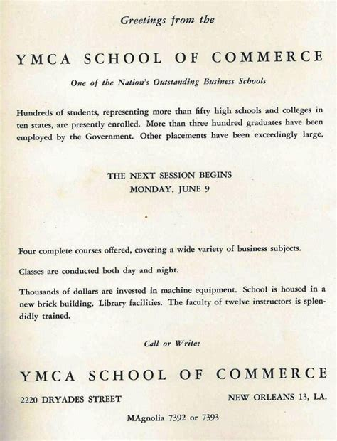 Ymca Mba Placement by A Thriving Business School Ymca School Of Commerce 1941