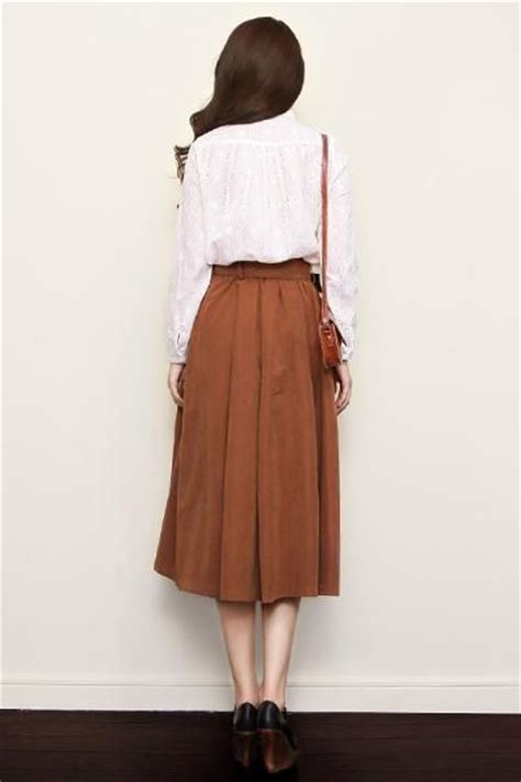 Tie Waist Pleated Plain Midi Skirt best 25 high waisted skirt ideas on high