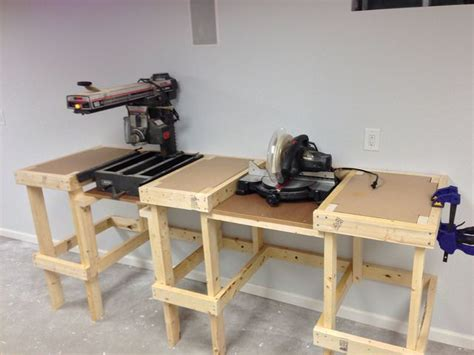 build miter saw bench how to build a mobile base for table saw woodworking