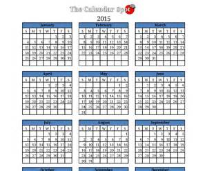 2015 one page calendar template 5 best images of blank calendar 2015 printable one page