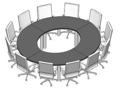 Revit Conference Table Conference Table And Chairs For Revit Modlar