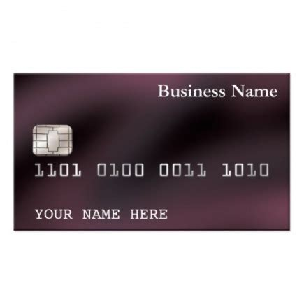 make a credit card template create your own credit card for your business images