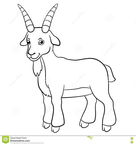cute goat coloring pages billy goat clipart cute