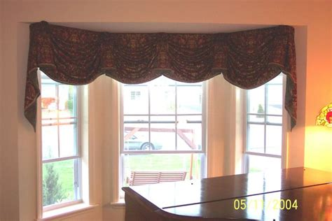 Ideas For Kitchen Window Curtains by Window Treatment Photos Empire Valance Custom Fit To Bay