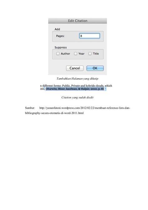 cara membuat daftar pustaka di word secara otomatis cara membuat kutipan dan daftar pustaka otomatis di ms word