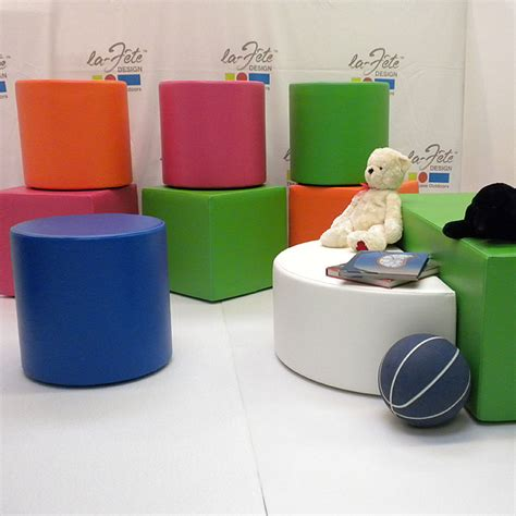 ottomans for kids la fete designs for kids dot cube and round ottoman prlog
