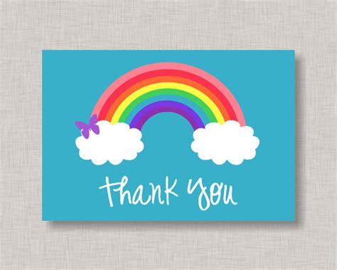 printable birthday cards rainbow rainbow thank you card rainbow note card rainbow