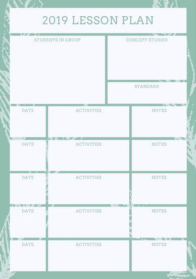 start lesson plan template customize 1 304 lesson plan templates canva