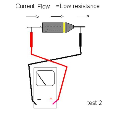 how to check diode direction if you get the same reading or to the same for each of the tests the diode is no