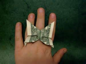 Dollar Bill Origami Ring - dollar bill butterfly ring flotsam and origami jetsam