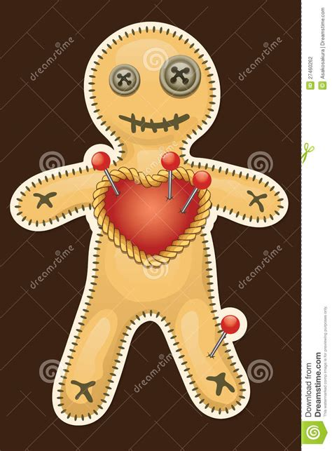 black doll voodoo voodoo doll terrible black magic voodoo doll stock