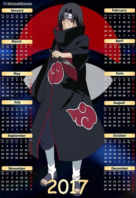 Anime Calendar 2017 Anime Calendar 10 Eng Spa By Akatsukikarasu
