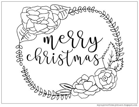 cup overflows christmas coloring pages
