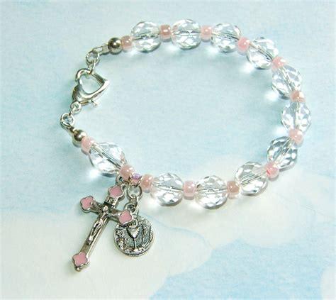 Handmade Rosary Bracelets - s communion rosary bracelet handmade felt