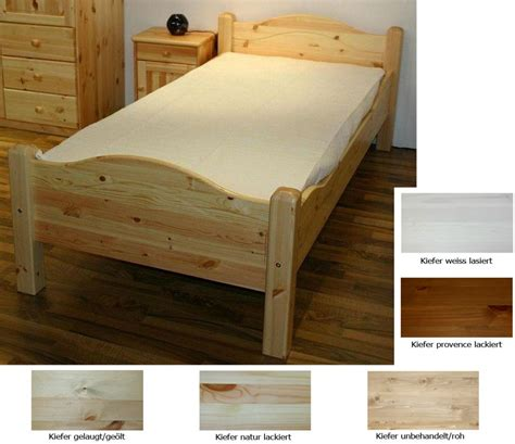 bett holz 100x200 massivholz bett holzbett einzelbett lackiert 100x200