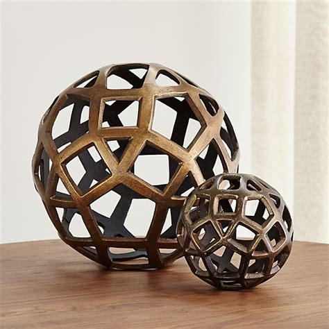decoration balls geo decorative metal balls crate and barrel
