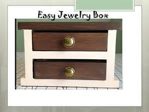 how to make box for jewelry white easy jewelry box diy projects