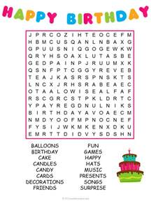 birthday word search puzzle