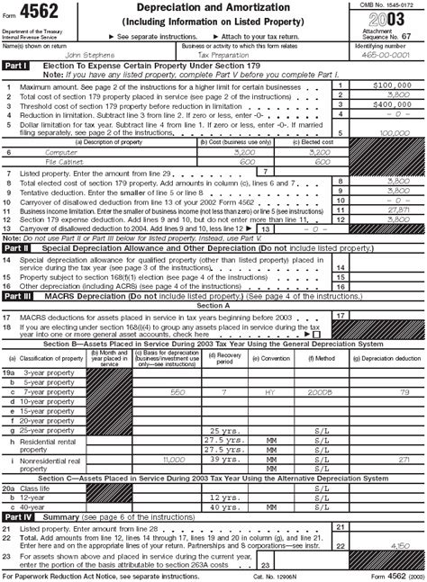 Form 4562 Worksheet by Publication 587 Business Use Of Your Home Publication