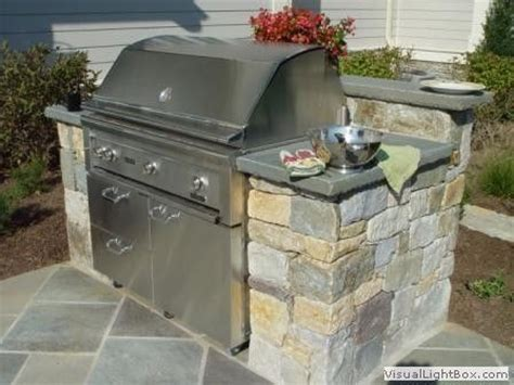 outdoor kitchens stone bbq design davel construction built in grill built ins and outdoor on pinterest