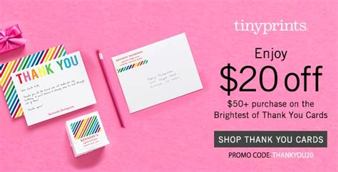 Tiny Prints Thank You Card Promo Code