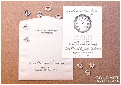 new year envelope married new years wedding save the date gourmet invitations